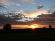 Zachód słońca nad Roztoczem