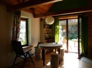 Salon w zielonym domku